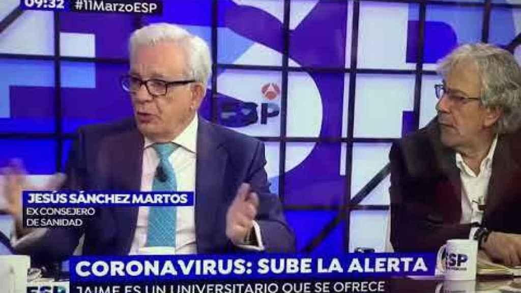 El doctor Sánchez Martos durante una de sus intervenciones en marzo del 2020 en 'Espejo Público'.
