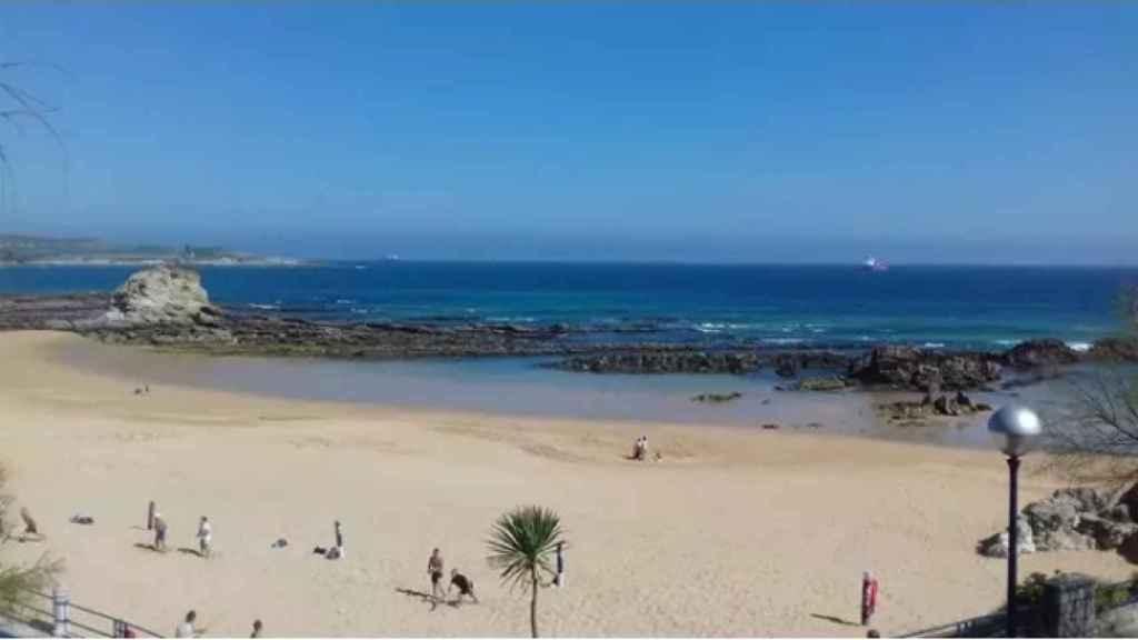 Playa Camello (Santander), donde se encontró a la mujer sin identidad en 2001.