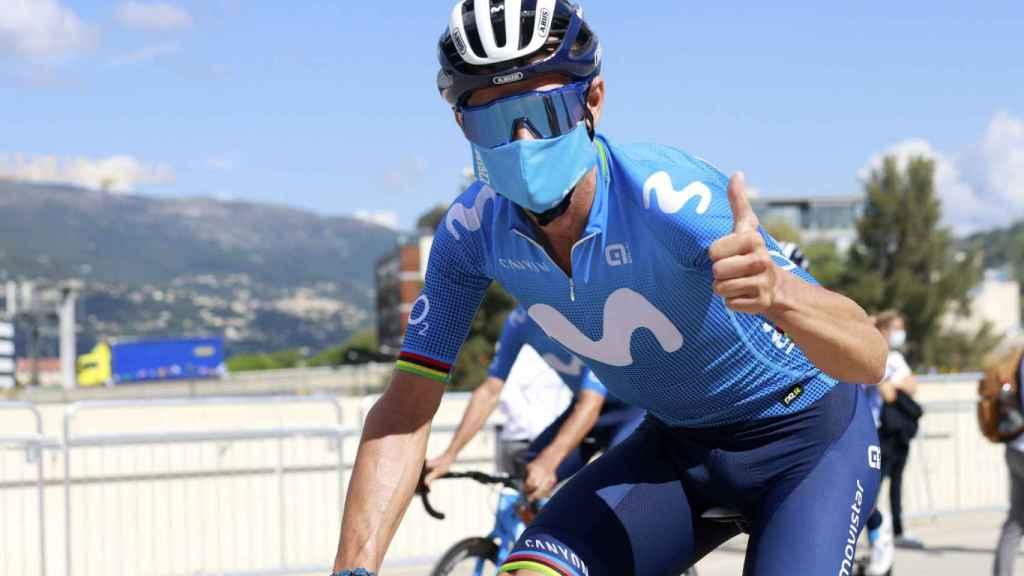 Alejandro Valverde, en el Tour de Francia