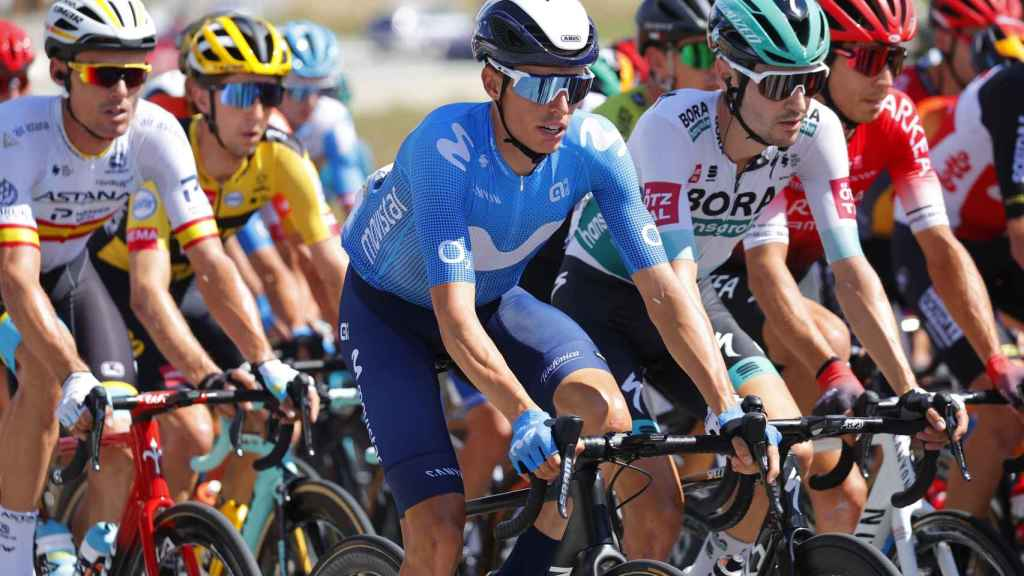 Enric Mas, en el pelotón del Tour de Francia 2020