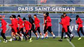 El PSG durante una sesión de entrenamiento
