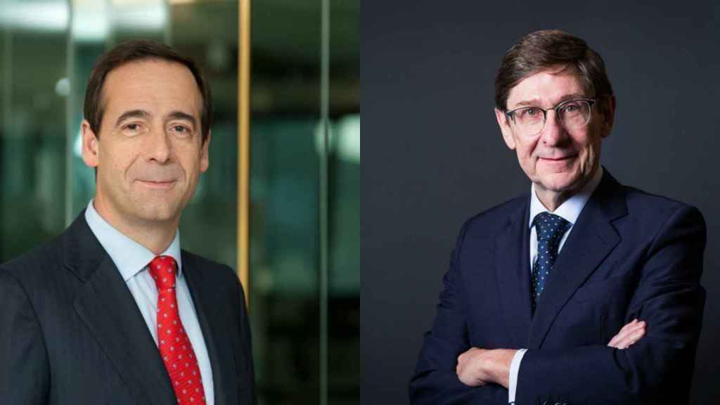 Gortázar  y Goirigolzarri ultiman la fusión de CaixaBank y Bankia.