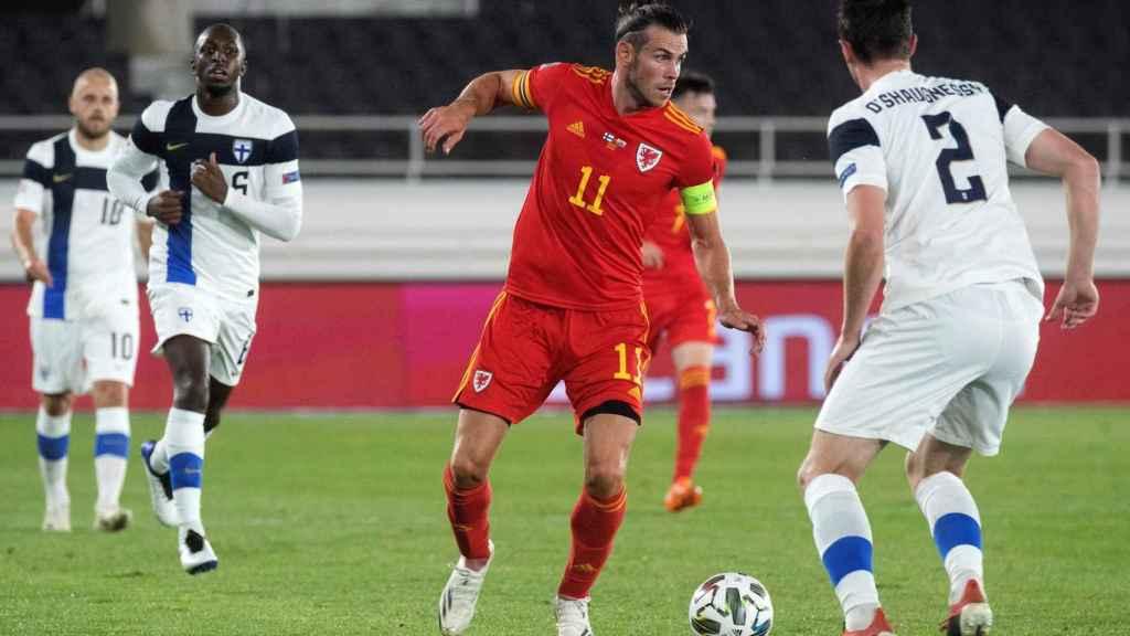 Gareth Bale, con la selección de Gales