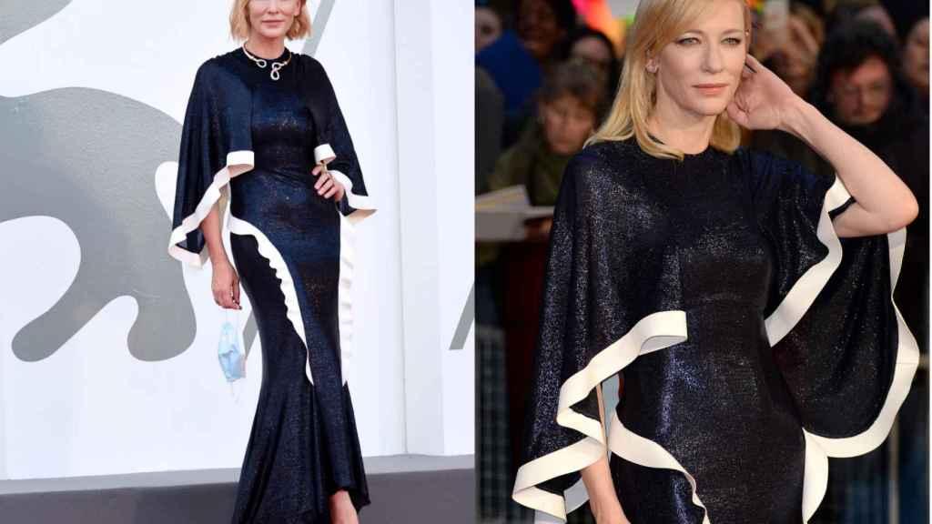 Cate Blanchett ha lucido el mismo vestido de Esteban Cortázar con el que posó en 2015.