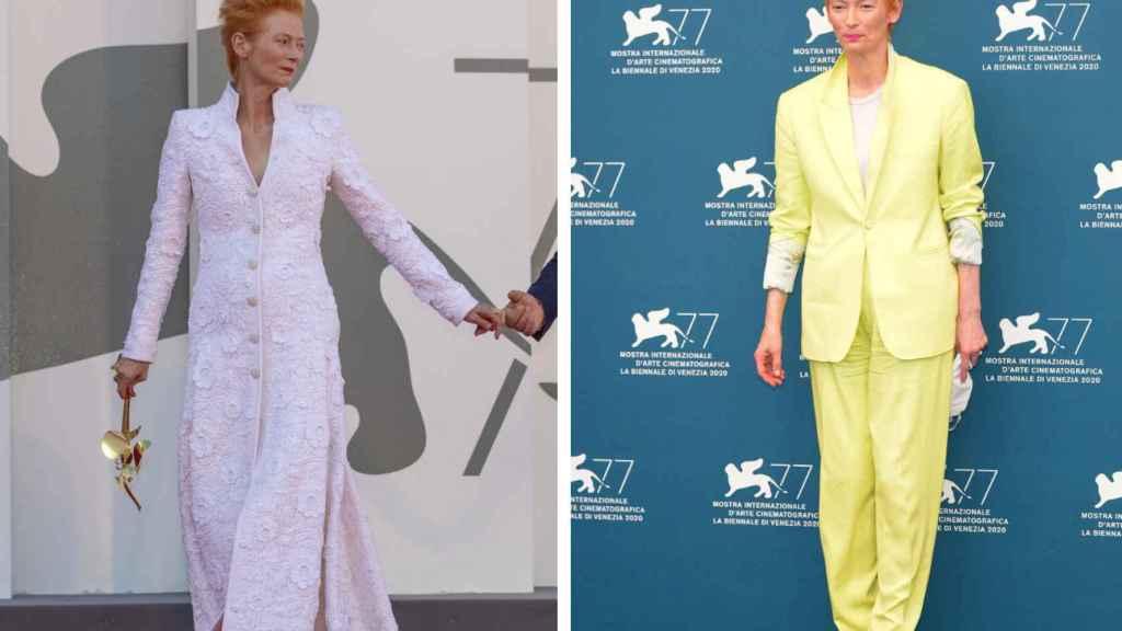 Tilda Swinton  ha causado furor  con sus dos estilismos elegidos.