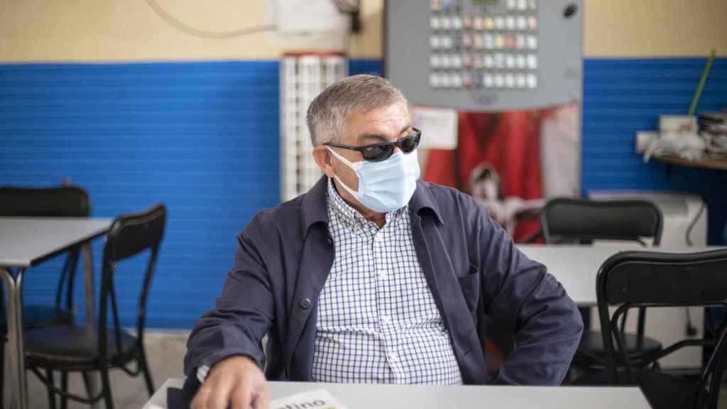 Alberto Blanco, durante su conversación con EL ESPAÑOL en Meneses de Campos.