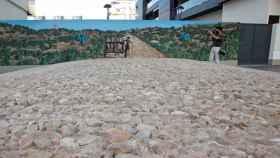 Vista de la calzada romana de Villajoyosa recién recuperada.