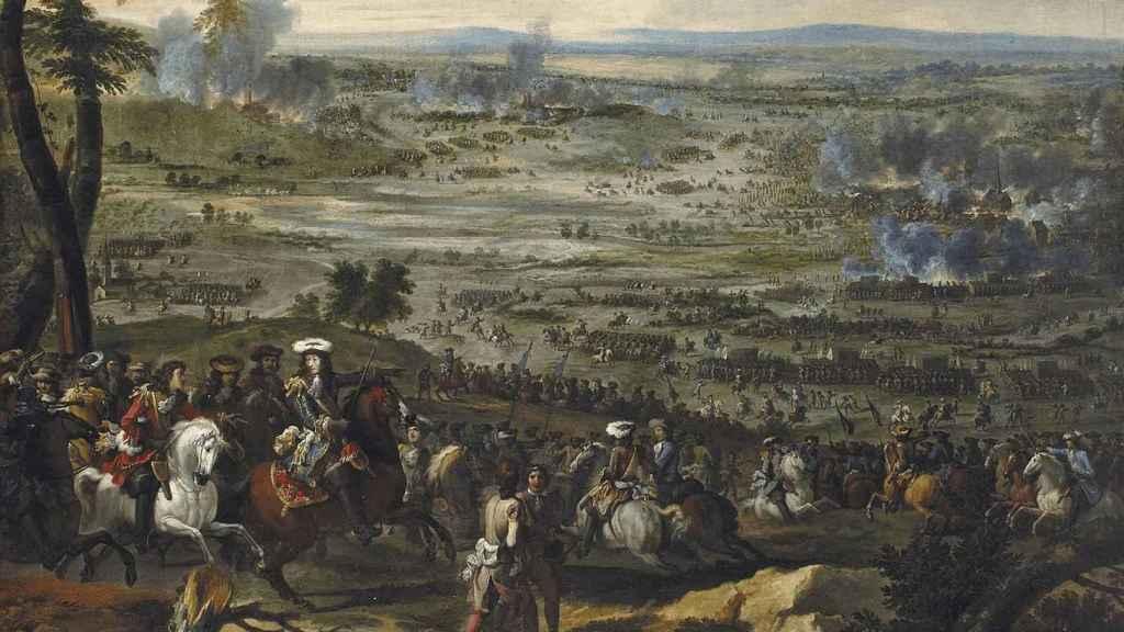 'La batalla de Seneffe', lienzo de Adam Frans van der Meulen.