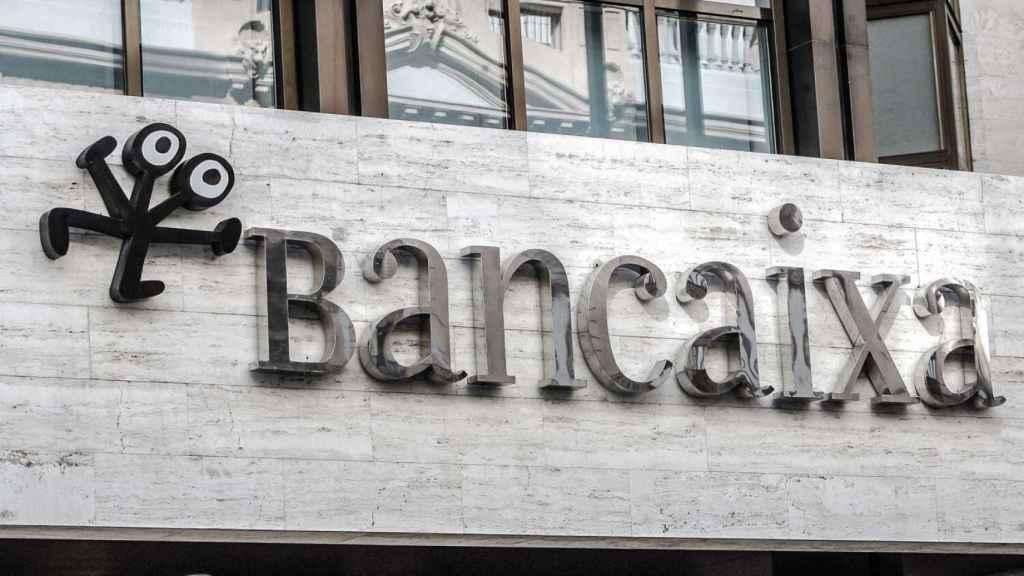 Logo de Bancaixa en la sede de la extinta Bancaja. EE