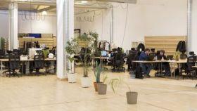 Una instalación de  'coworking'.