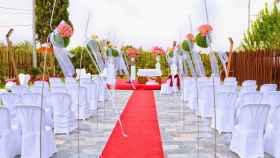 Escenario de boda al aire libre