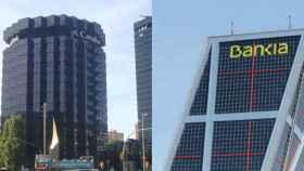 Sedes de Caixabank y Bankia en una imagen de archivo.