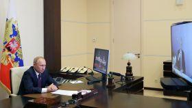 El presidente ruso, Vladimir Putin, durante una videoconferencia.