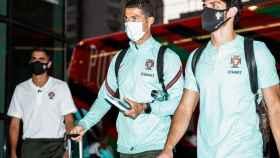 Cristiano Ronaldo llega a la concentración de Portugal