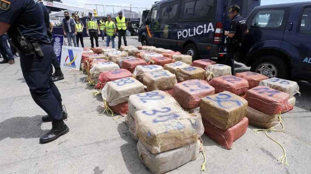 Un alijo de cocaína incautado por la Policía Nacional en Galicia.