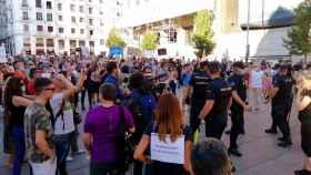 Momento de la manifestación.
