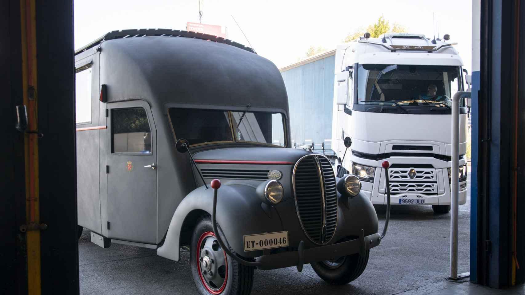 Imagen del camión que Franco utilizó como comedor