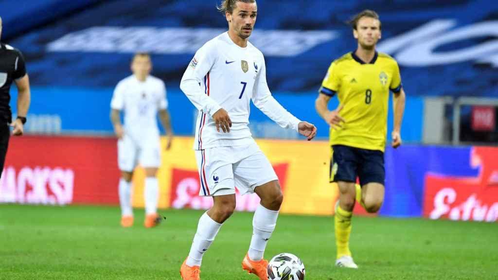 Antoine Griezmann, con la selección de Francia