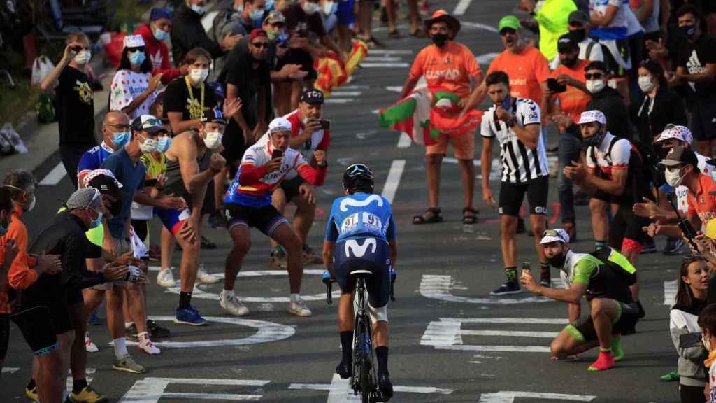 Los aficionados en la subida al Peyresourde del Tour de Francia 2020