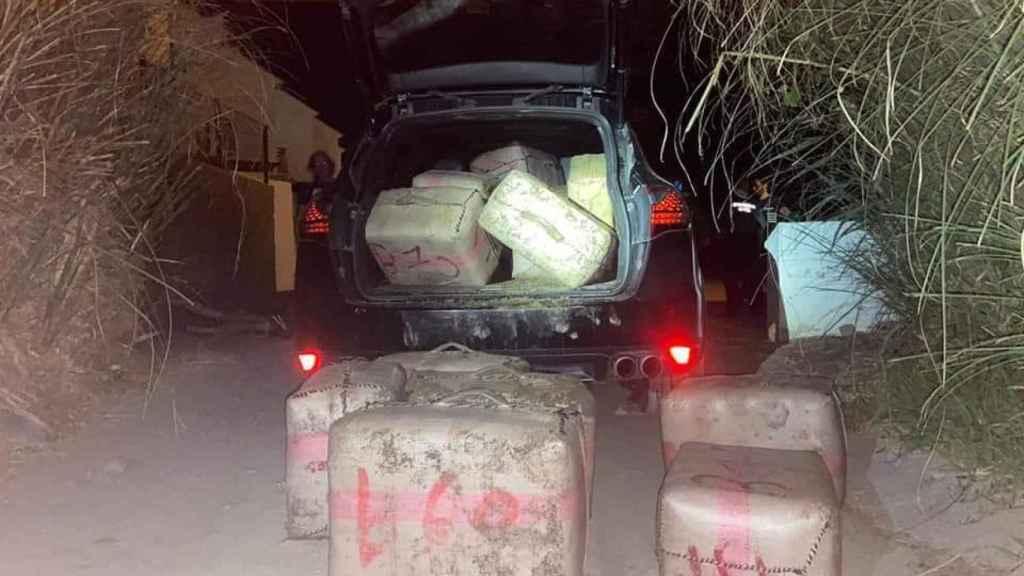 Las autoridades han intervenido 500 kilogramos de hachís.