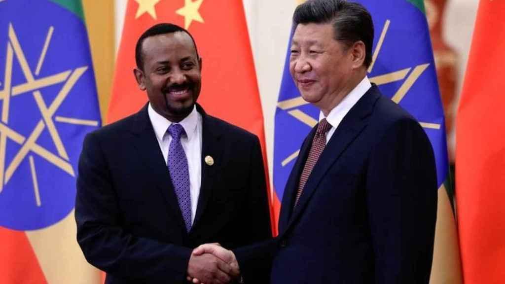 Abiy Ahmed y el presidente chino, Xi Jinping.