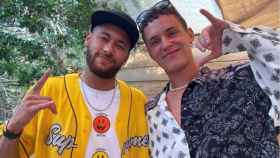 Neymar Jr. y Arón Piper (Instagram)