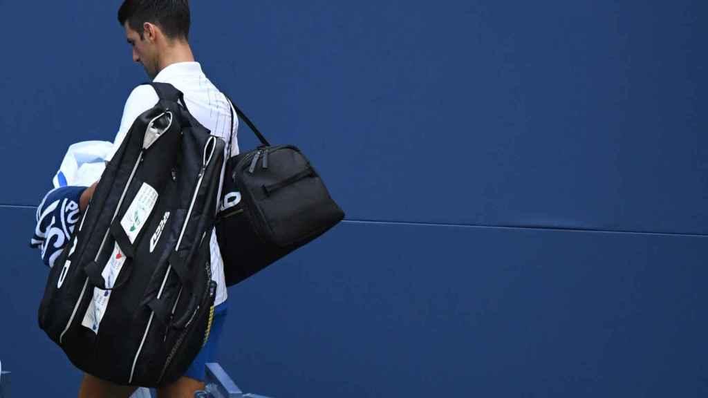 Djokovic, abandonado la Arthur Ashe tras ser descalificado.