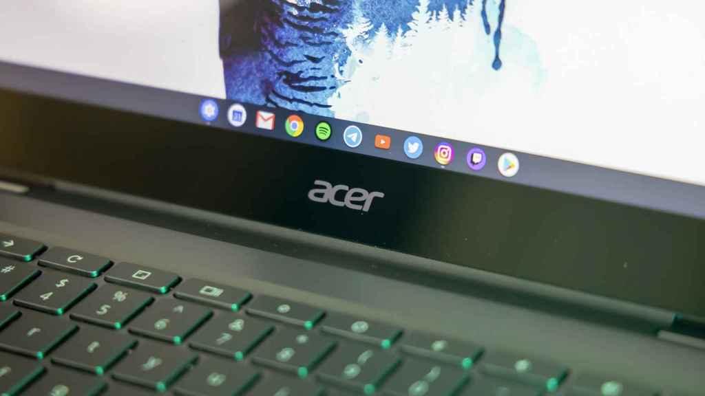 Logo de Acer en un Chromebook.