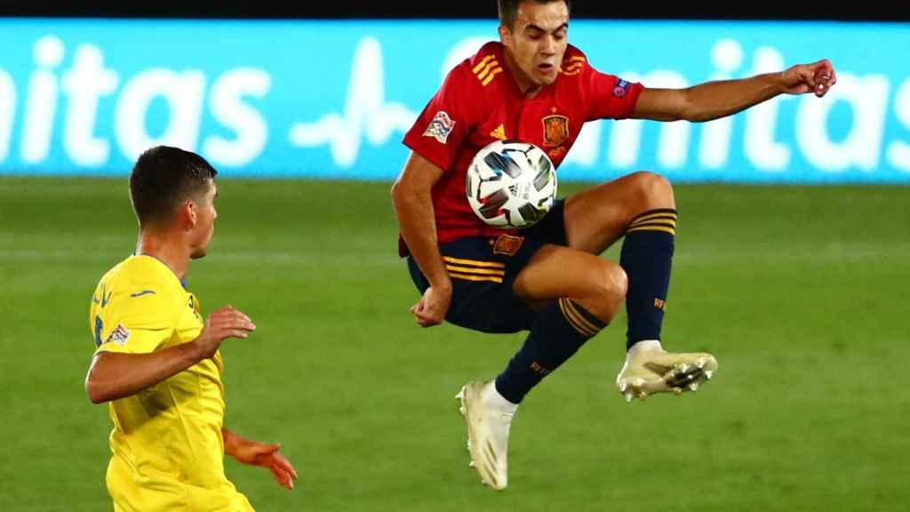 Sergio Reguilón, en su debut con la selección española