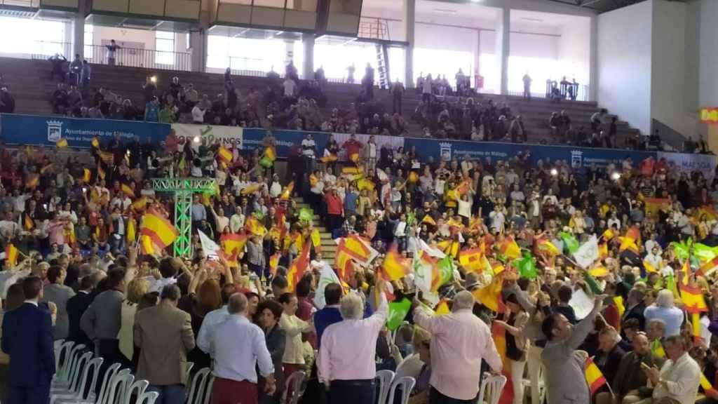 Mitin de Vox el 25 de abril de 2019 en Málaga