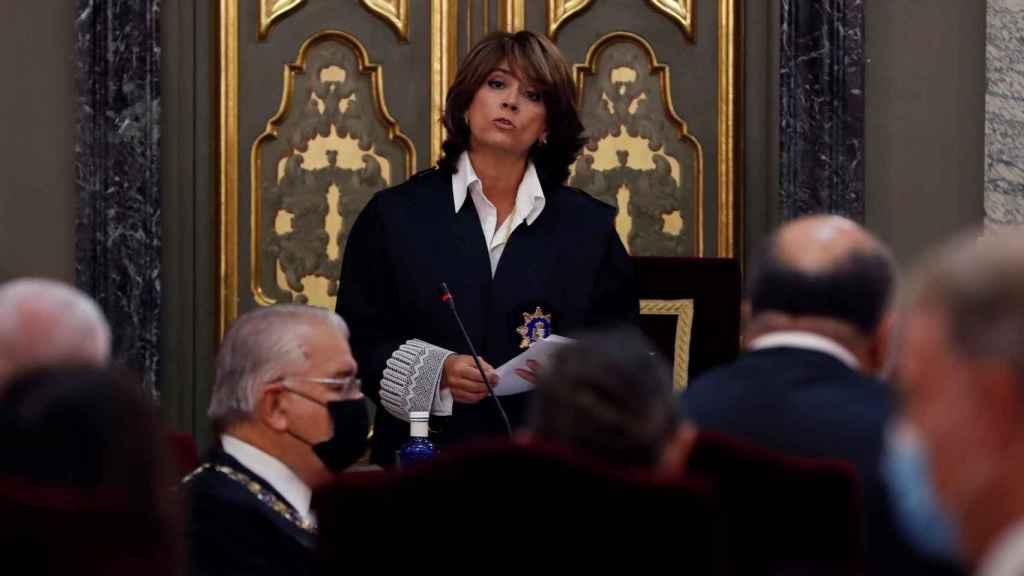 La Fiscal General del Estado, Dolores Delgado, este lunes.