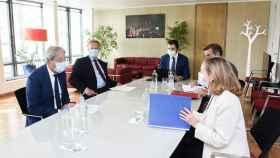 Nadia Calviño, durante su reunión con el comisario Paolo Gentiloni a principios de septiembre.