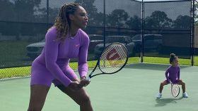 Serena Williams y su hija Olympia.