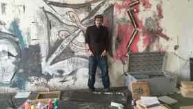 Saul Fletcher en su estudio de Berlín.