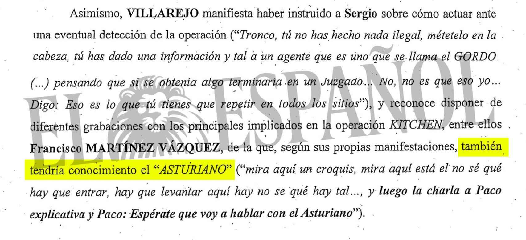 Villarejo asesora al chófer de Bárcebas sobre cómo actuar si le detienen.