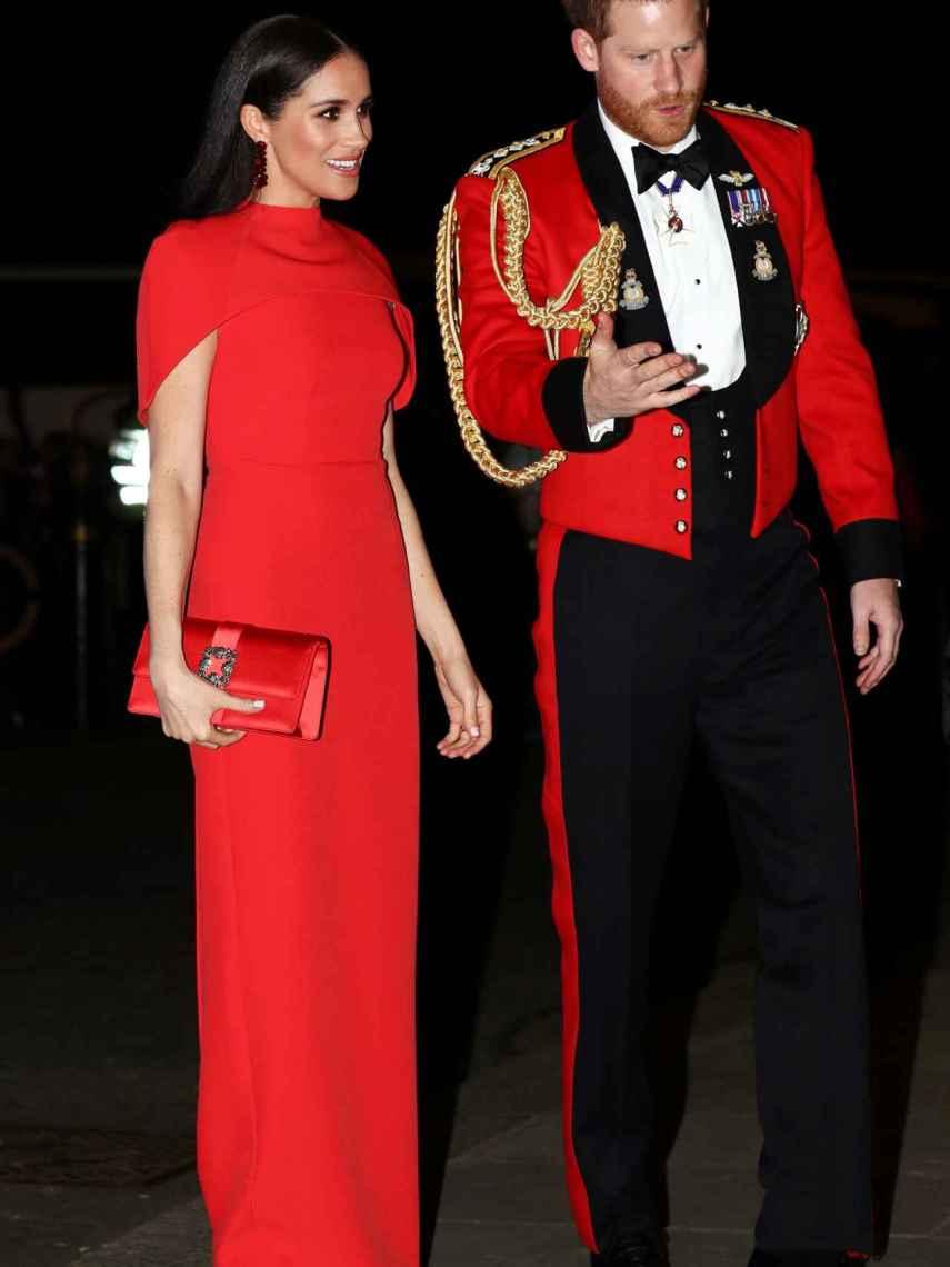 Harry y Meghan en el festival de música de Mountbatten en marzo de 2020.