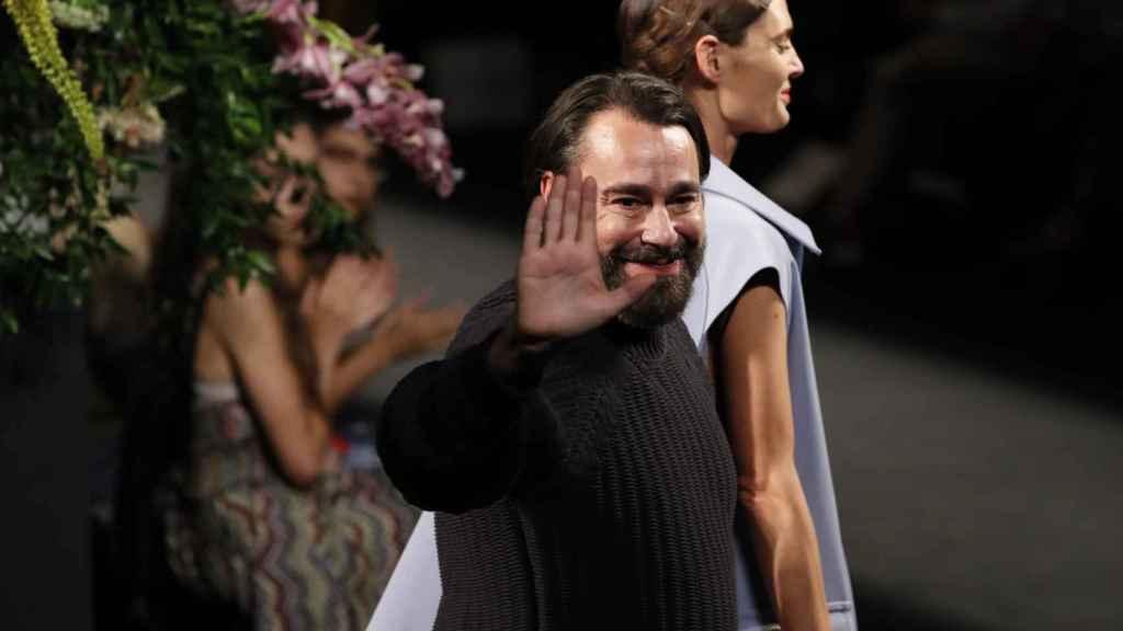 Juanjo Olivia durante la Pasarela Cibeles Fashion Week Madrid