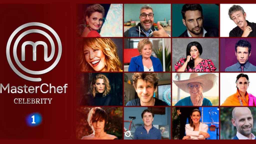 Lista de concursantes de la nueva edición de 'MasterChef Celebrity'.