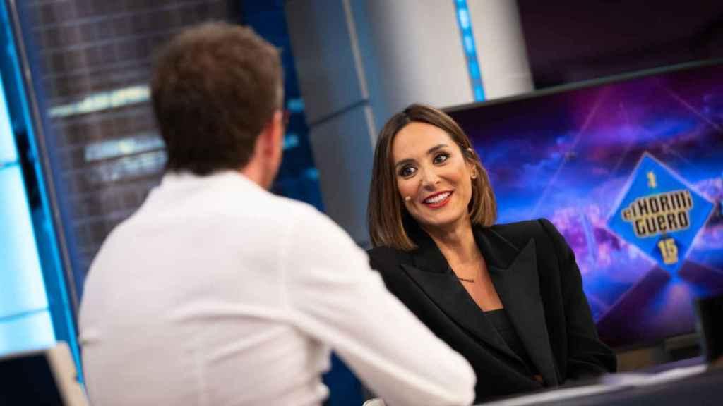 Pablo Motos junto a Tamara Falcó, nuevo fichaje de 'El Hormiguero' para su nueva temporada.
