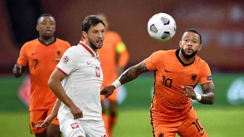 Memphis Depay, con la selección de Holanda