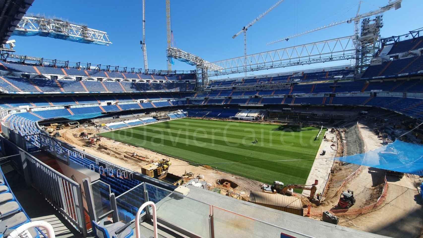 La imagen del Nuevo Estadio Santiago Bernabéu por dentro el 8 de septiembre de 2020