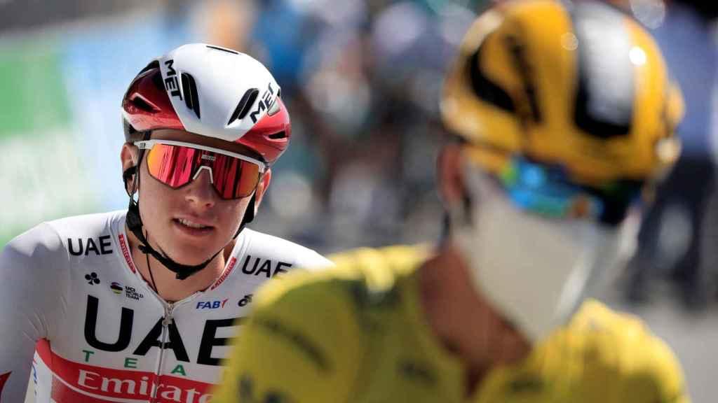 Tadej Pogacar y Primoz Roglic en el Tour de Francia de 2020