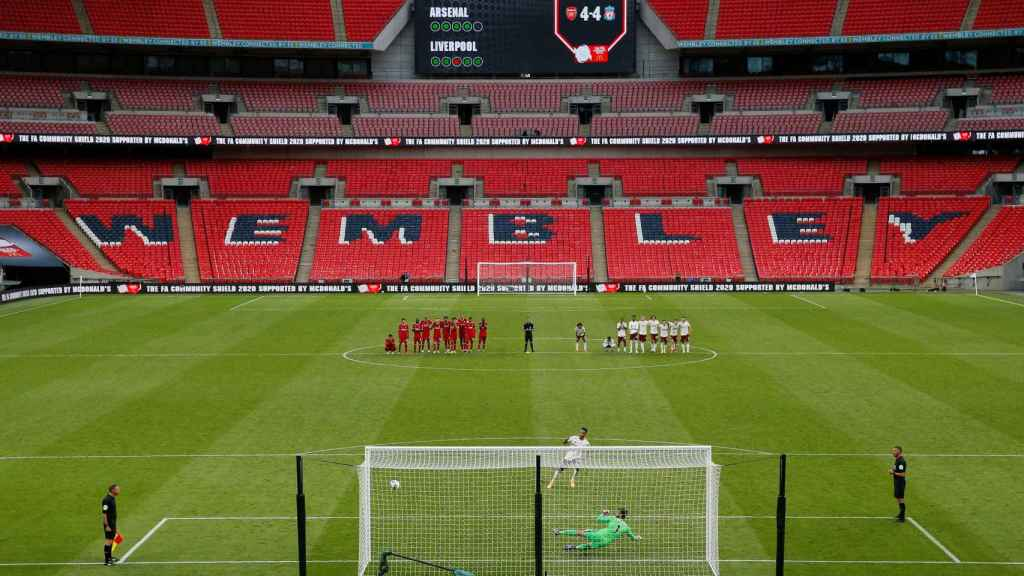 El estadio de Wembley durante la Community Shield de 2020