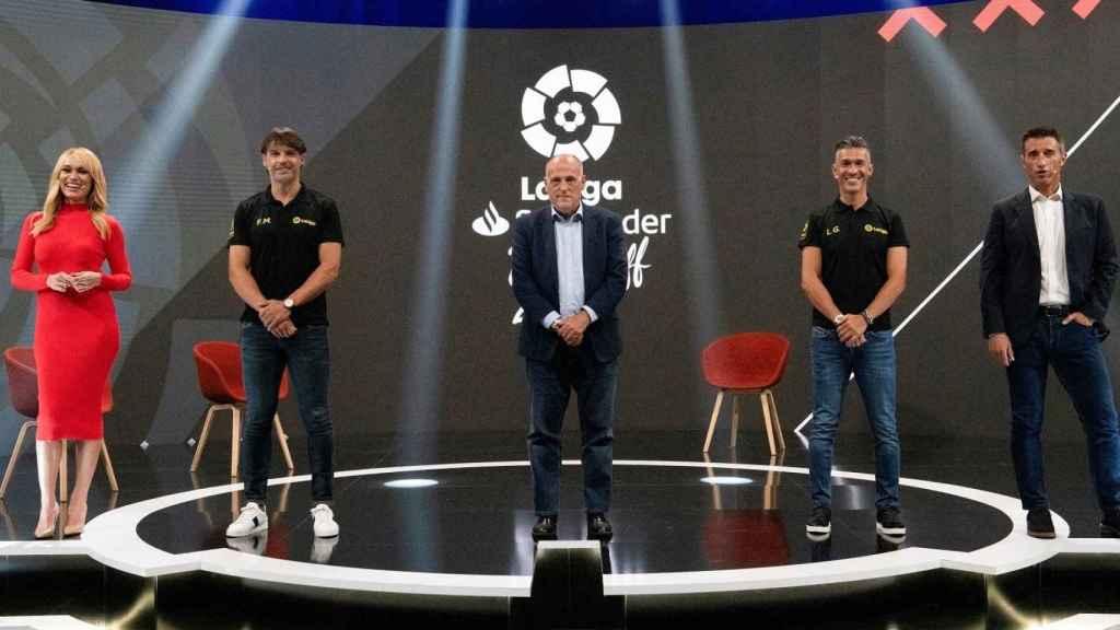 Javier Tebas, en la presentación de LaLiga 2020/2021
