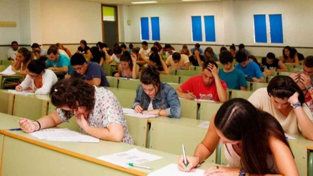 Un aula de la Universidad de Málaga
