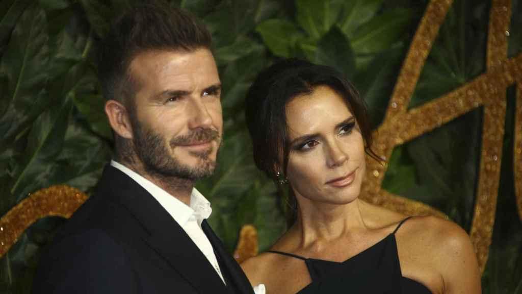 David y Victoria Beckham, durante un evento de moda en Londres.