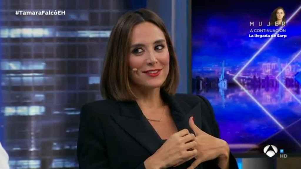 Tamara Falcó, durante la entrevista en 'El Hormiguero'.