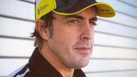 Fernando Alonso, con los colores de Renault