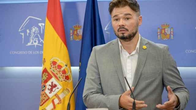 El portavoz de Esquerra Republicana (ERC) en el Congreso de los Diputados, Gabriel Rufián.