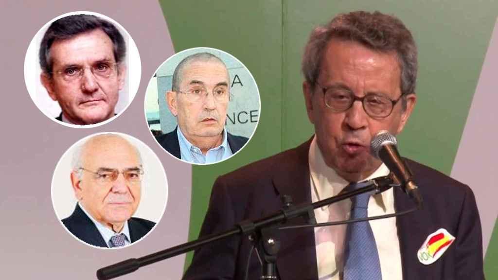 Rafael Arias-Salgado, Ignacio Bayón y Jesús Sancho Rof, exministros de UCD, hablan sobre el fichaje de Carlos Bustelo por Vox.